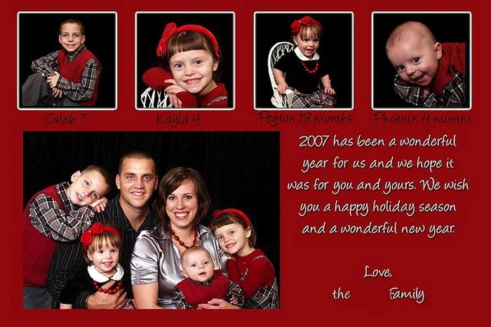 Cool holiday photo cards